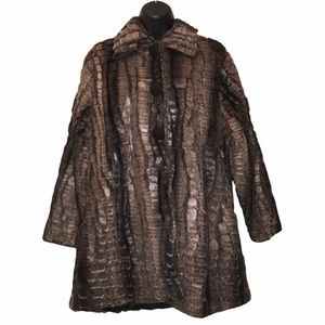Vintage Style FAUX FUR COAT~Rochelle California